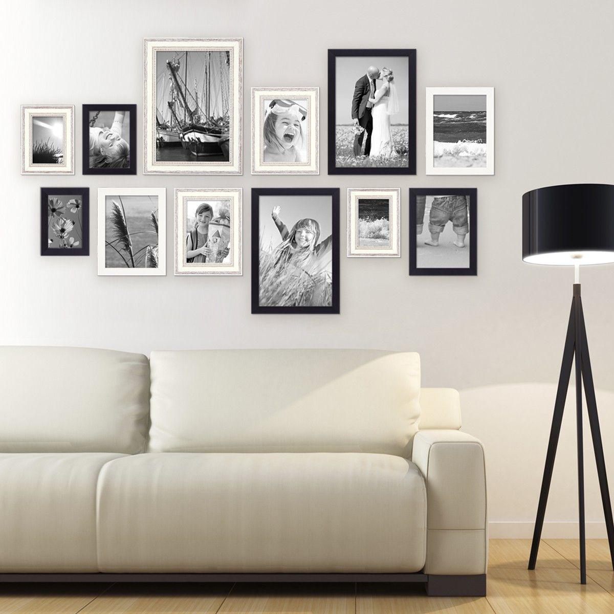 12er Set Bilderrahmen für grosse Bilderwand Modern Shabby-Chic 10x15 ...