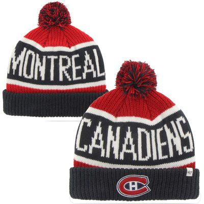 52cd3c2ad81 Men s Montreal Canadiens  47 Red Calgary Cuffed Knit Hat