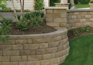 Basalite Retaining Walls The Brickyard Natural Stone Retaining Wall Retaining Wall Natural Stone Wall