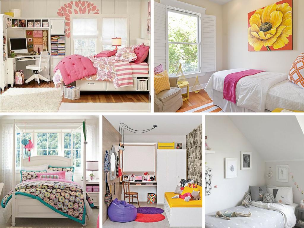 Quartos Femininos Pequenos Decora O Quartos Pinterest  ~ Quarto De Meninas Simples E Pequeno
