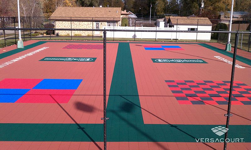 MultiSport Game Court (With images) Backyard court