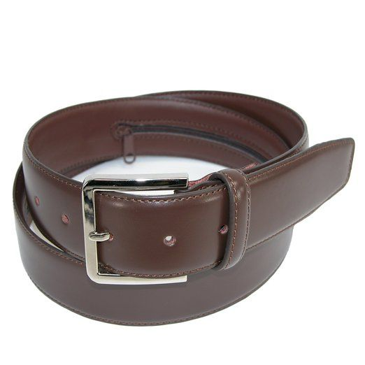 CTM Mens Leather Travel Money Belt