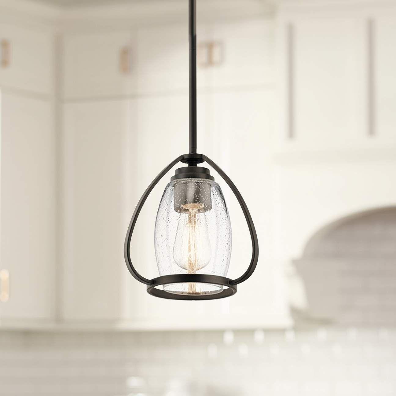 Kichler Tuscany 9 Wide Oiled Bronze Mini Pendant 42x59 Lamps Plus Chandelier Design Bronze Pendant Light Lamps Plus