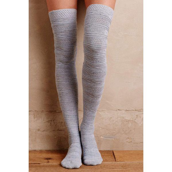Lemon Fairisle Over-The-Knee Socks ($30) ❤ liked on Polyvore ...