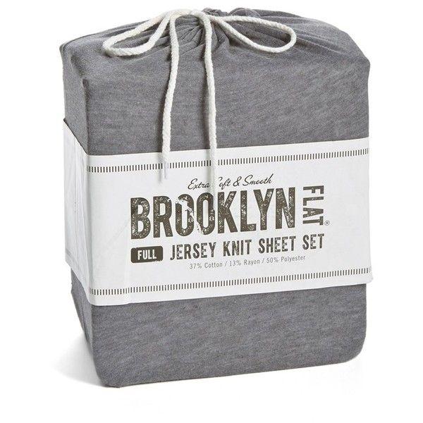 Brooklyn Flat Jersey Knit Sheet Set 39 Liked On