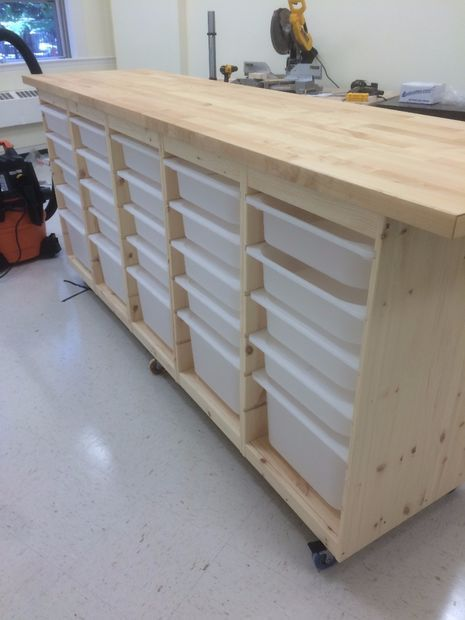 Huge Rolling Organizing Storage Chest Project Rangement Couture Meuble Rangement Meuble Rangement Ikea