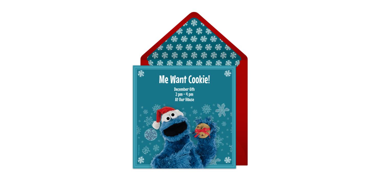 Customizable, free Cookie Monster Exchange online invitations ...