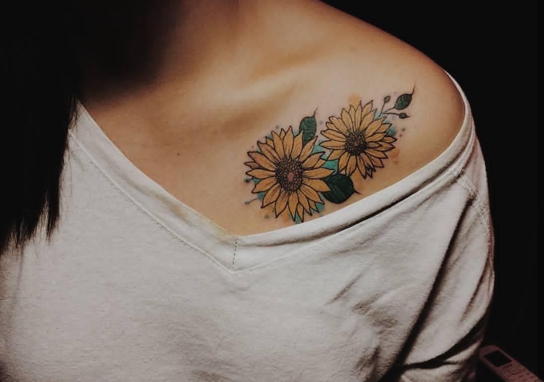 Pin By Heather Pastirchak On Beauty Wardrobe Sunflower Tattoo Sunflower Tattoos Sunflower Tattoo Shoulder