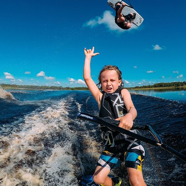 Photo of the Day! @darin shapiro keeping it in the family as he rips it with his son, Kien! #likefatherlikeson #GoPro #Wakeboard # Image via @meddockphoto Share your family passion with us via link in bio! #F4F #amazing #travel