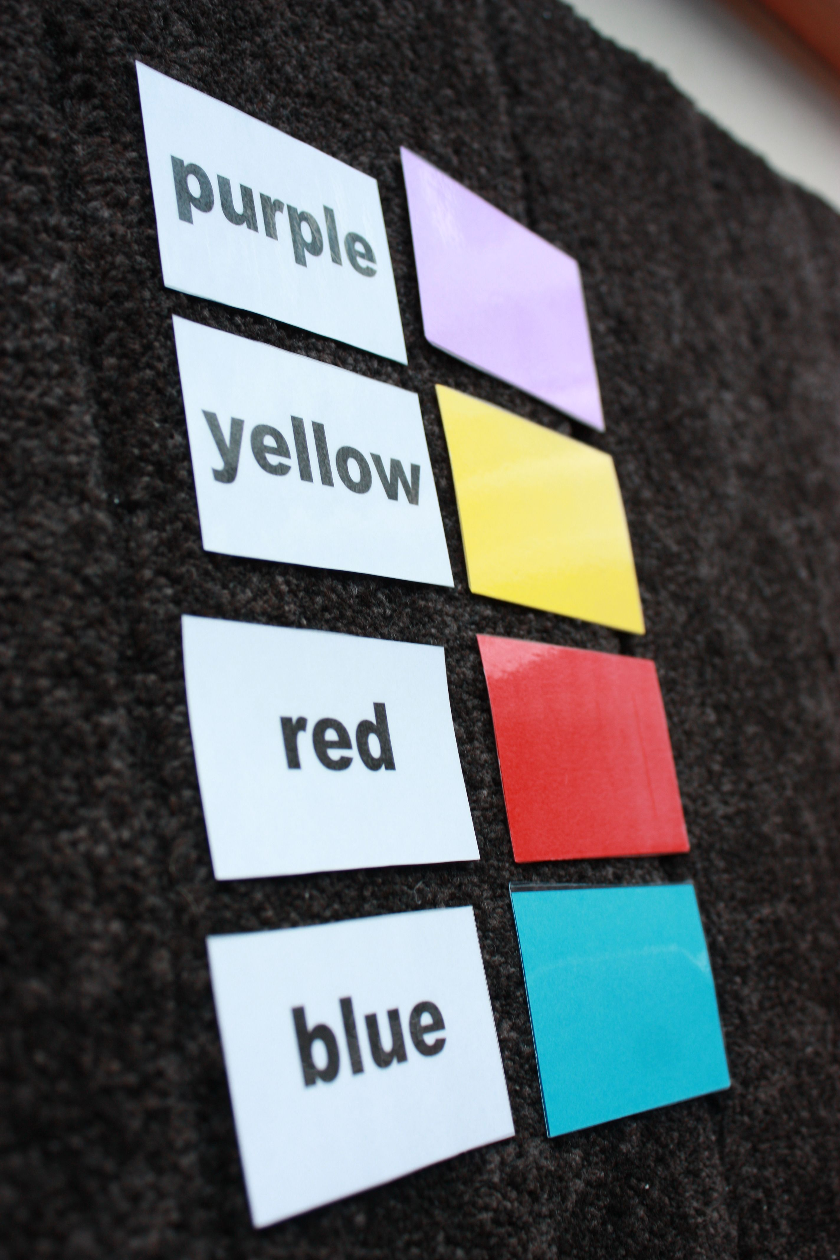Colour Names Matching Cards