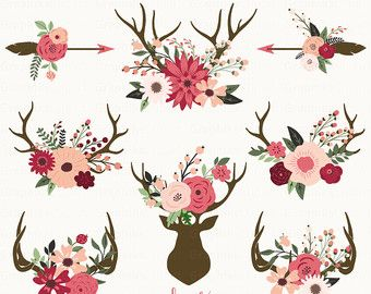 Wedding Floral Wreaths FLORAL WREATHS CLIPART