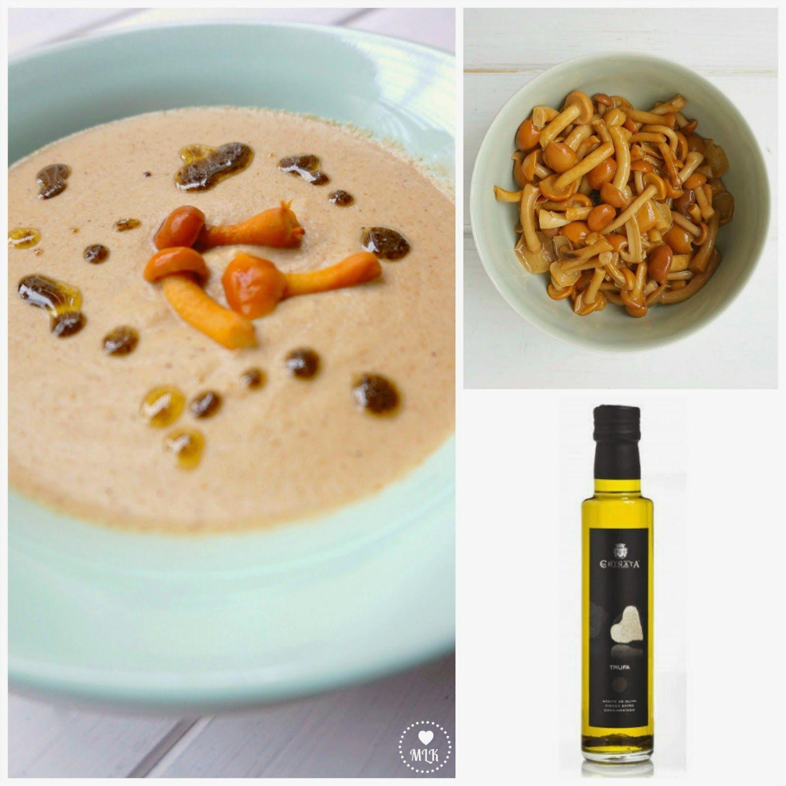 My Little Kitchenette Crema De Hongos Con Aceite De Trufa Crema De Hongos Aceite De Trufa Recetas De Comida
