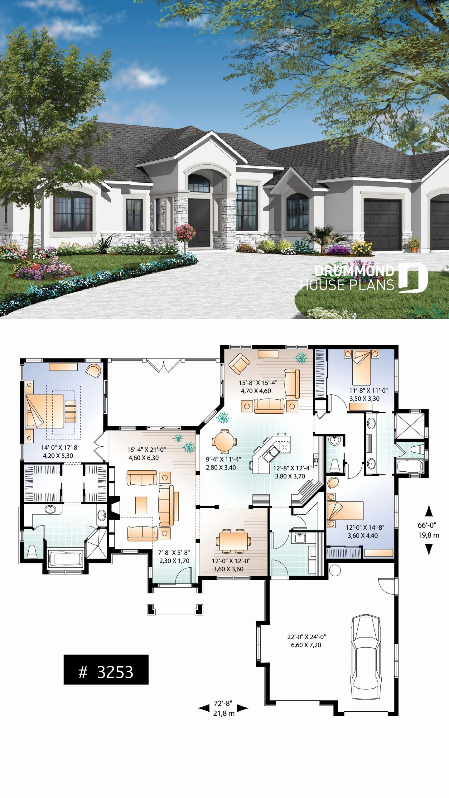13 Bedroom House Plans Fresh Mediterranean 3 Bedroom House Plan With 13 Ceilings Double In 2020 Florida House Plans Family House Plans New House Plans