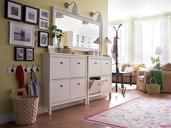 I Think Those Cabinets Are From IKEA To Hold Shoes. Nice And Neat Entryway.