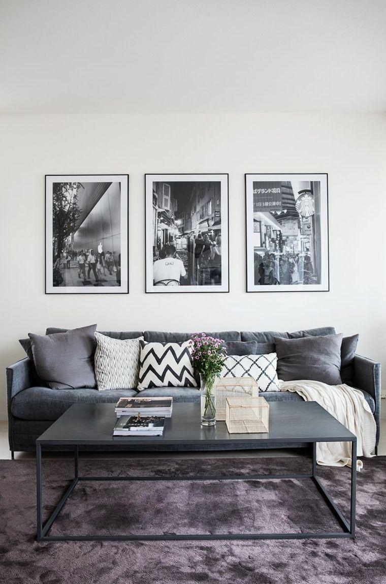 décoration de salon en gris et blanc | Inredning | Salons ...