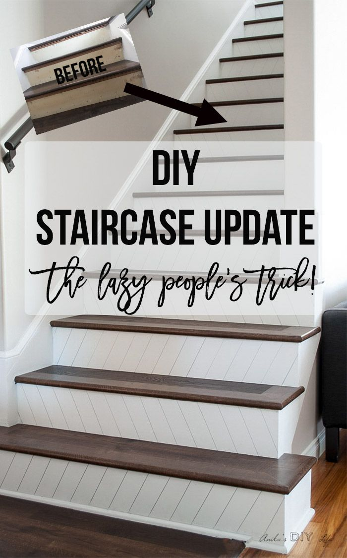 DIY Staircase Makeover : The Lazy Way to do it!