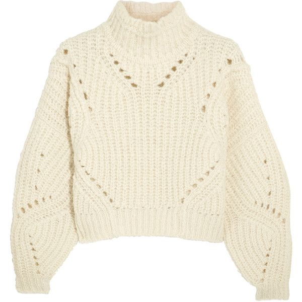 ef191a1ce0 Isabel Marant Farren cropped ribbed wool-blend turtleneck sweater ( 745) ❤  liked on Polyvore featuring tops