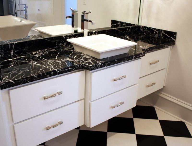 Hospitality Nero Marquina Marble Vanity Tops Hotel Marble Vanity Tops China Afforda Marble Countertops Bathroom Black Marble Countertops Marble Vanity Tops