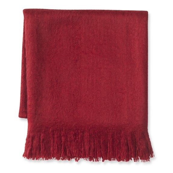 Faux Mohair Throw, 50 Faux Mohair is the only way to go.