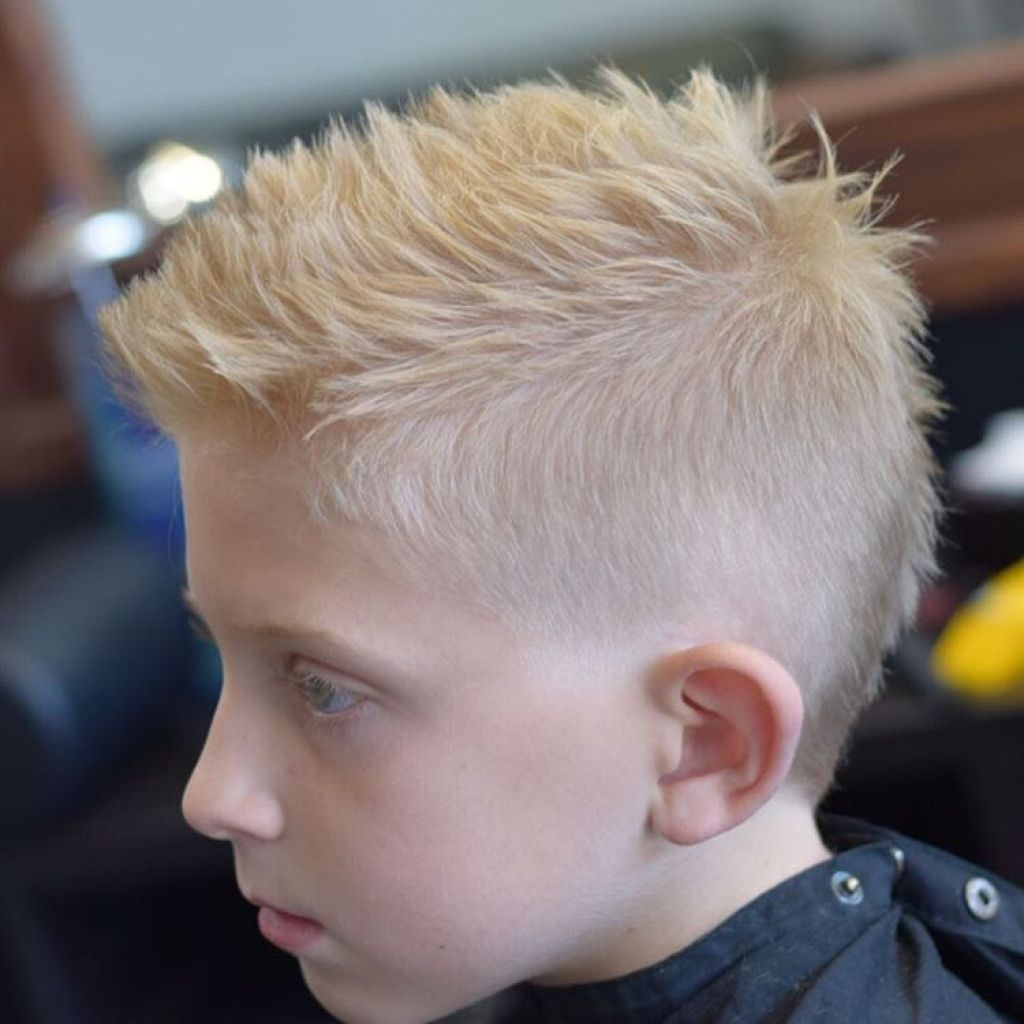 faded faux hawk add on blonde hair | men haircuts for blonde