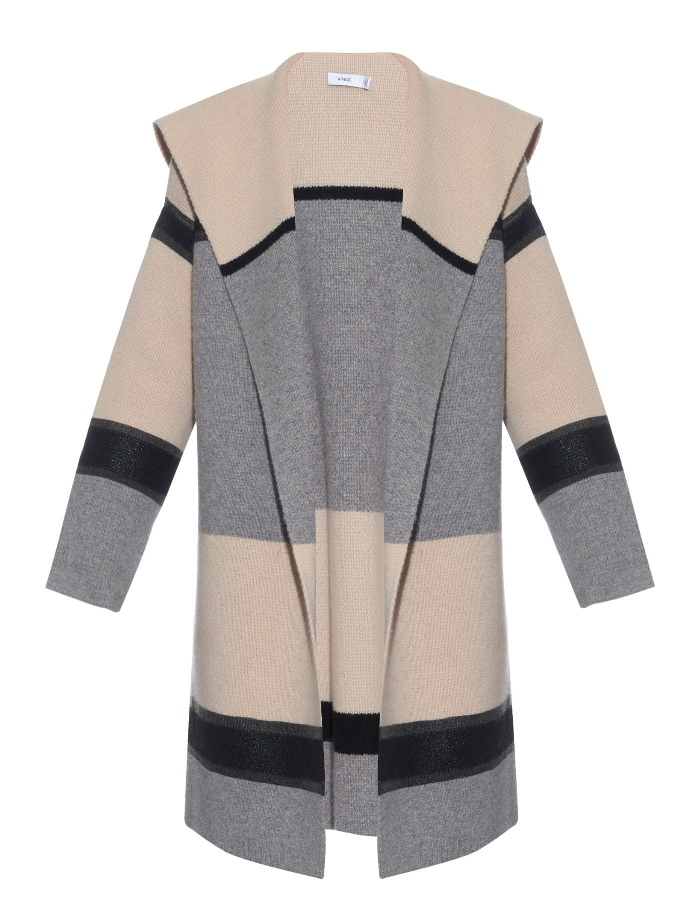 39e16fc1079f Colour-block wool and cashmere-blend coat