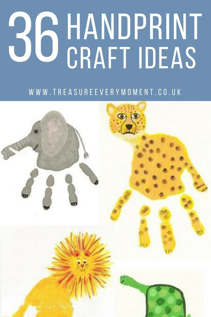 Photo of CHILDREN: 36 Handprint Craft Ideas