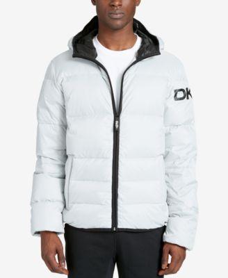 a38b478e4 DKNY DKNY Men's Mid-Length Hooded Puffer Jacket. #dkny #cloth ...