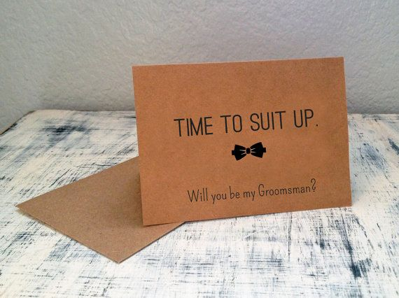 1 Will You Be My Groomsman card  by TexasFarmersDaughter on Etsy