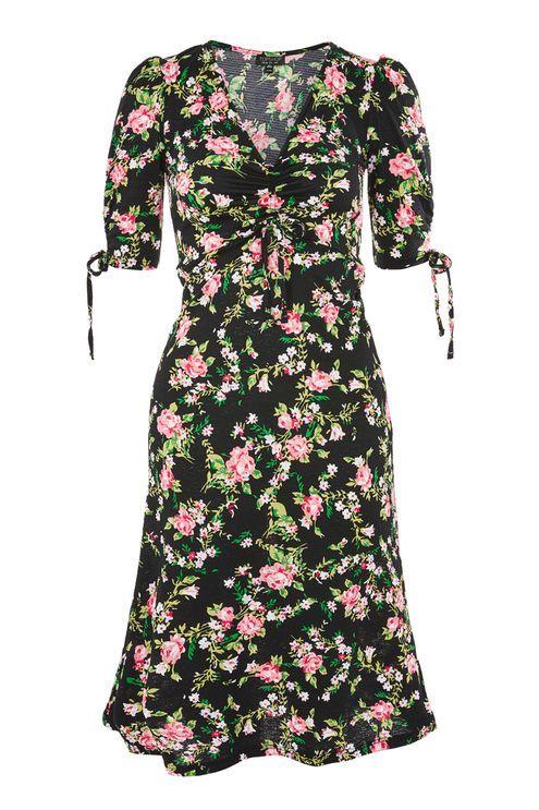 41be6665aa Floral Print Midi Skater Dress