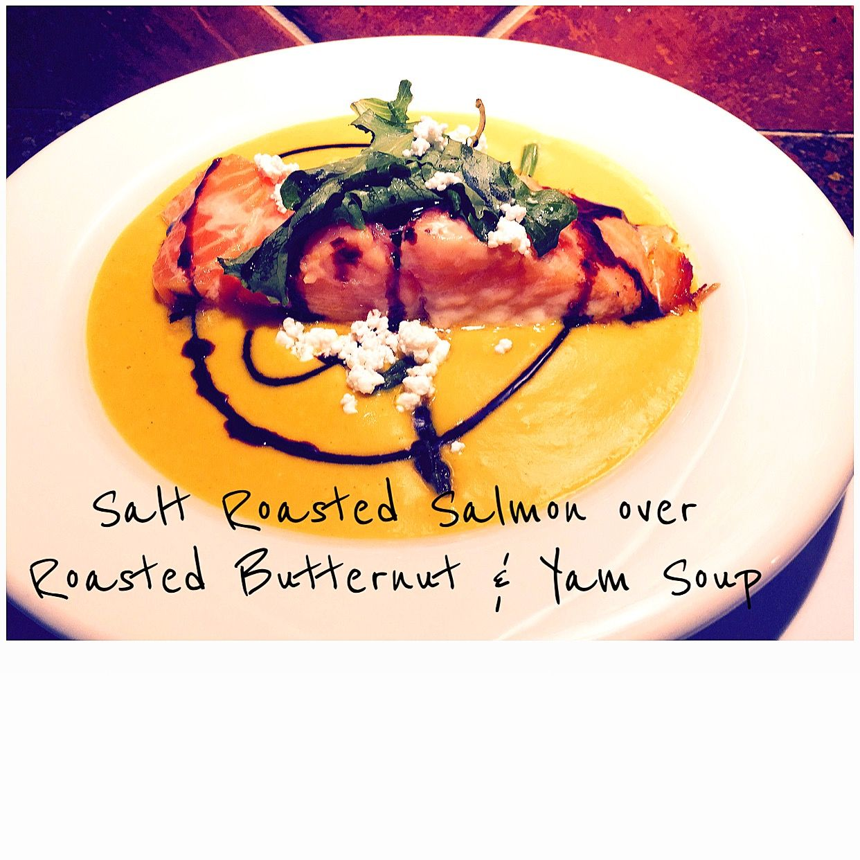 (fall flavors) salmon & butternut soup