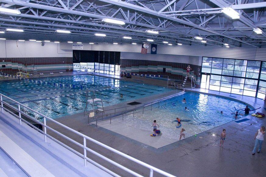 Fairfax, VA. South Run Rec Center. Gym architecture