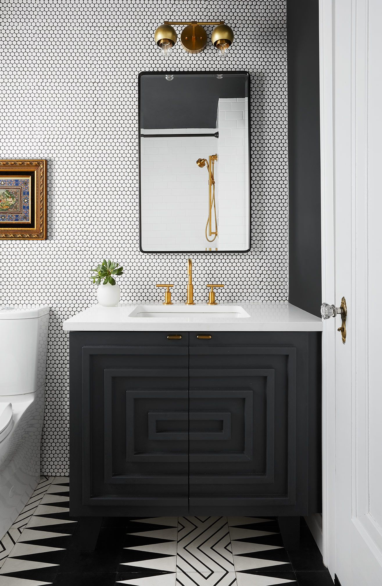 Chicago Interior Designer Jen Talbot Design Powder Room Design