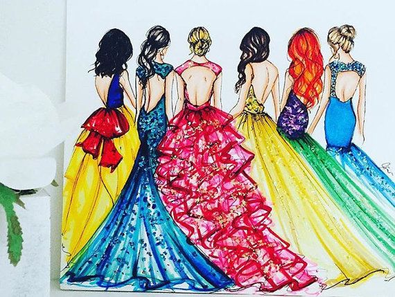 Princess Collection By Melsys On Etsy Disney Drawings Disney