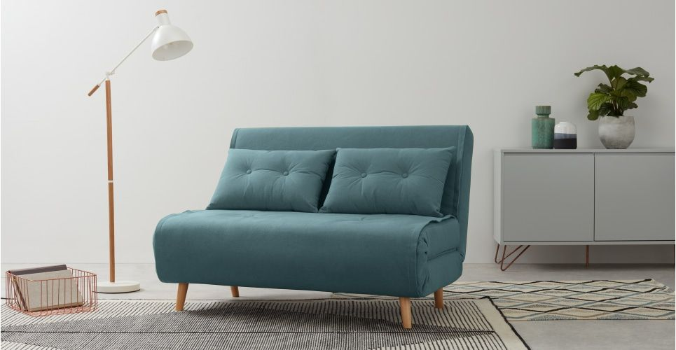 Haru petit canapé convertible bleu sorbet