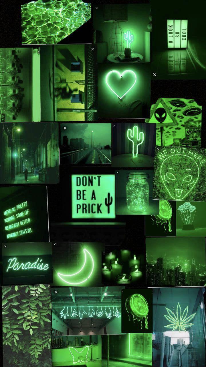 Neon Green Aesthetic Wallpapers Top Free Neon Green