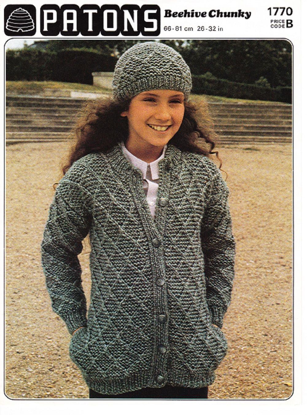 Patons Knitting Pattern 1770, Chunky, Childs Diamond Pattern Jacket ...