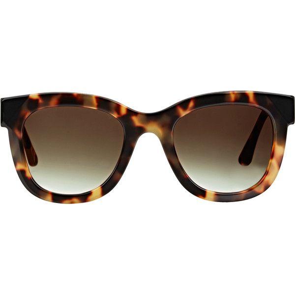 Thierry Lasry Chromaty Sunglasses ($490) ❤ liked on Polyvore featuring accessories, eyewear, sunglasses, multi, round tortoise glasses, tortoiseshell sunglasses, oversized round glasses, tortoise shell sunglasses and round sunglasses