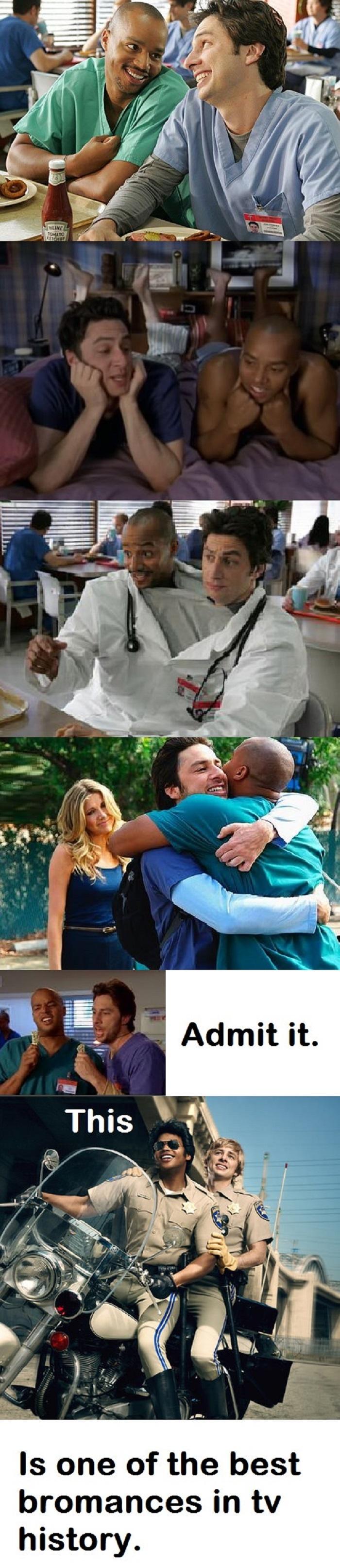Best bromance ever Scrubs tv shows, Scrubs tv, Scrubs funny