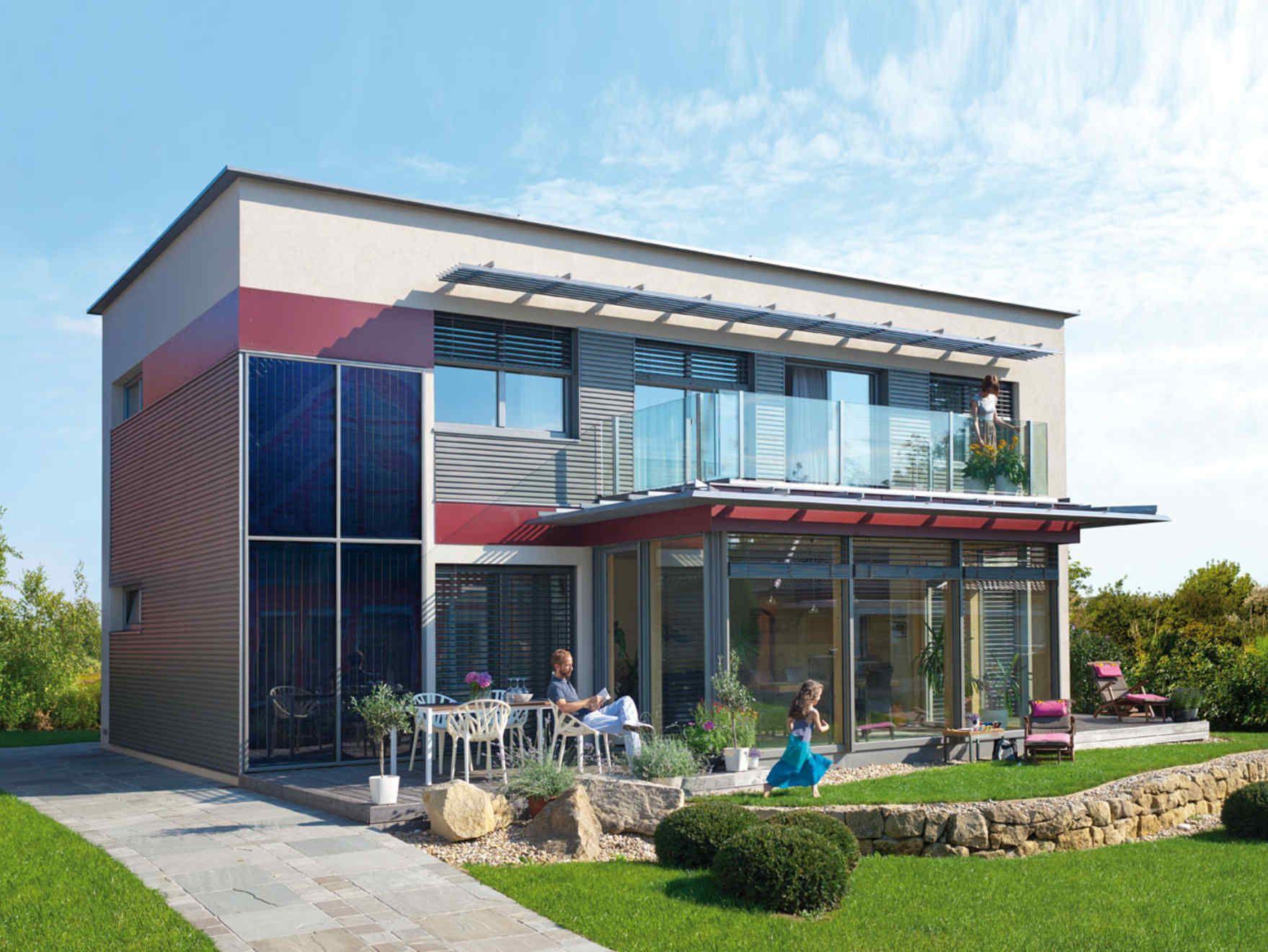 Vario haus solair gibtdemlebeneinzuhause einfamilienhaus fertighaus fertigteilhaus pultdach modern