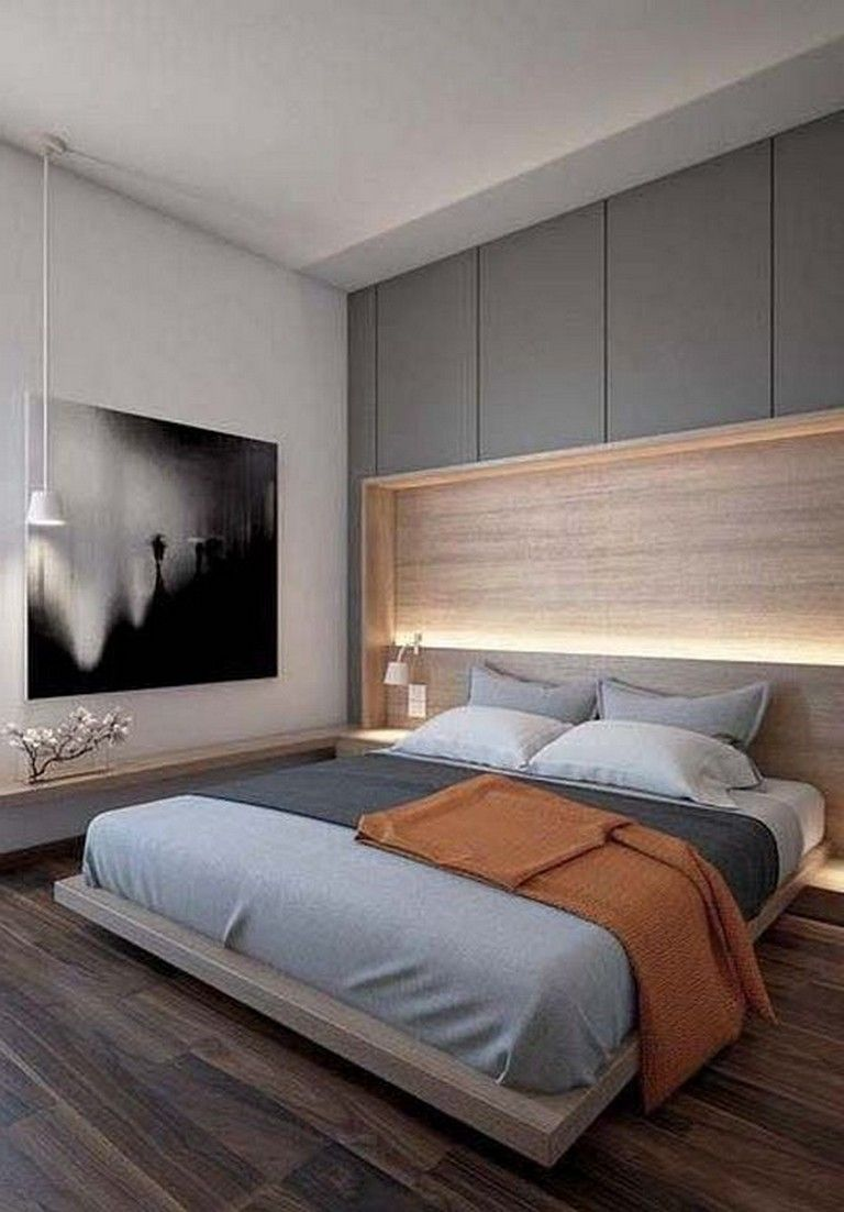 30 Cozy And Simple Modern Bedroom Ideas For Men Bedroomdecor Bedroomdesign Bedroomdecoratingide Small Modern Bedroom Bedroom Interior Master Bedroom Design
