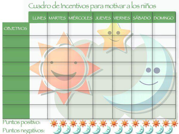 Panel de incentivos para niños   pm   Pinterest   Panel, Para niños ...