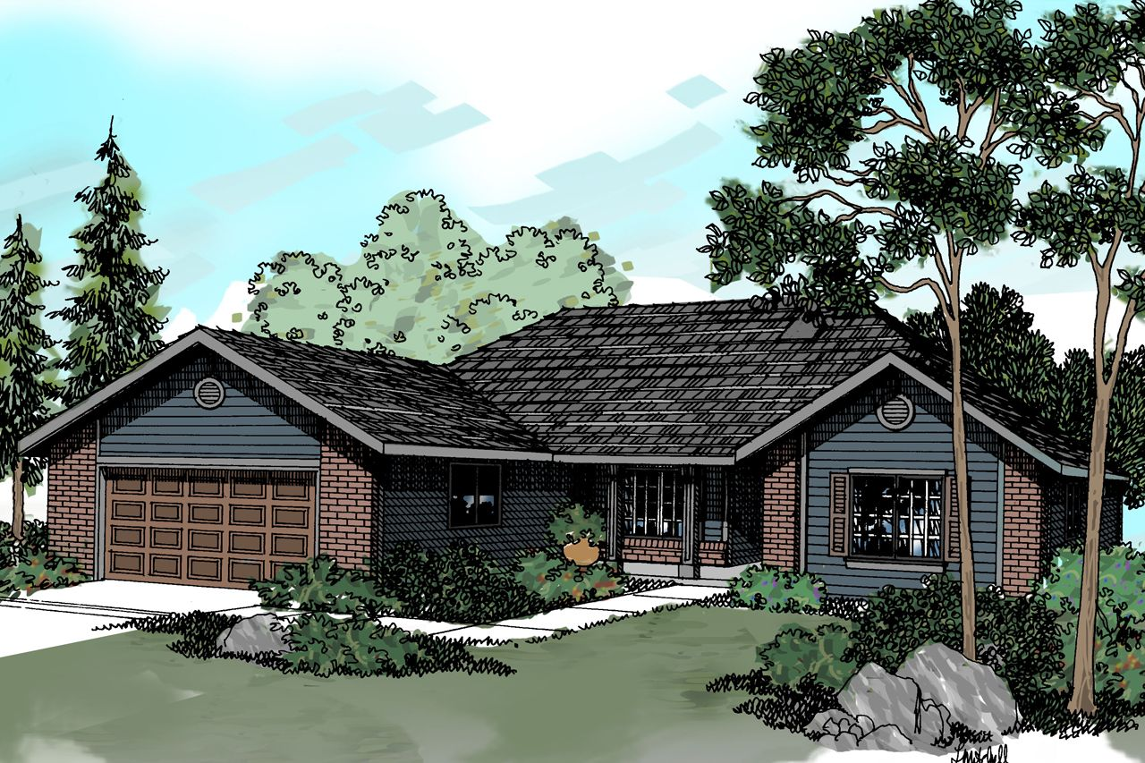 Traditional House Plan - Eldon 30-076 by Associated Designs