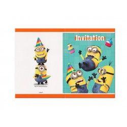 Convites de Aniversário para festas de aniversário do tema Minimos / Birthday Aniversary