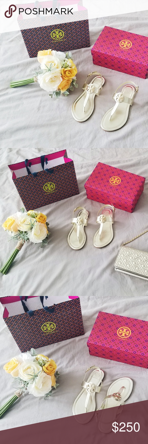 5c9e30af2 TORY BURCH Bryce Leather Thong Sandal Spark Gold Bryce Flat Thong Sandal in Spark  Gold Women s