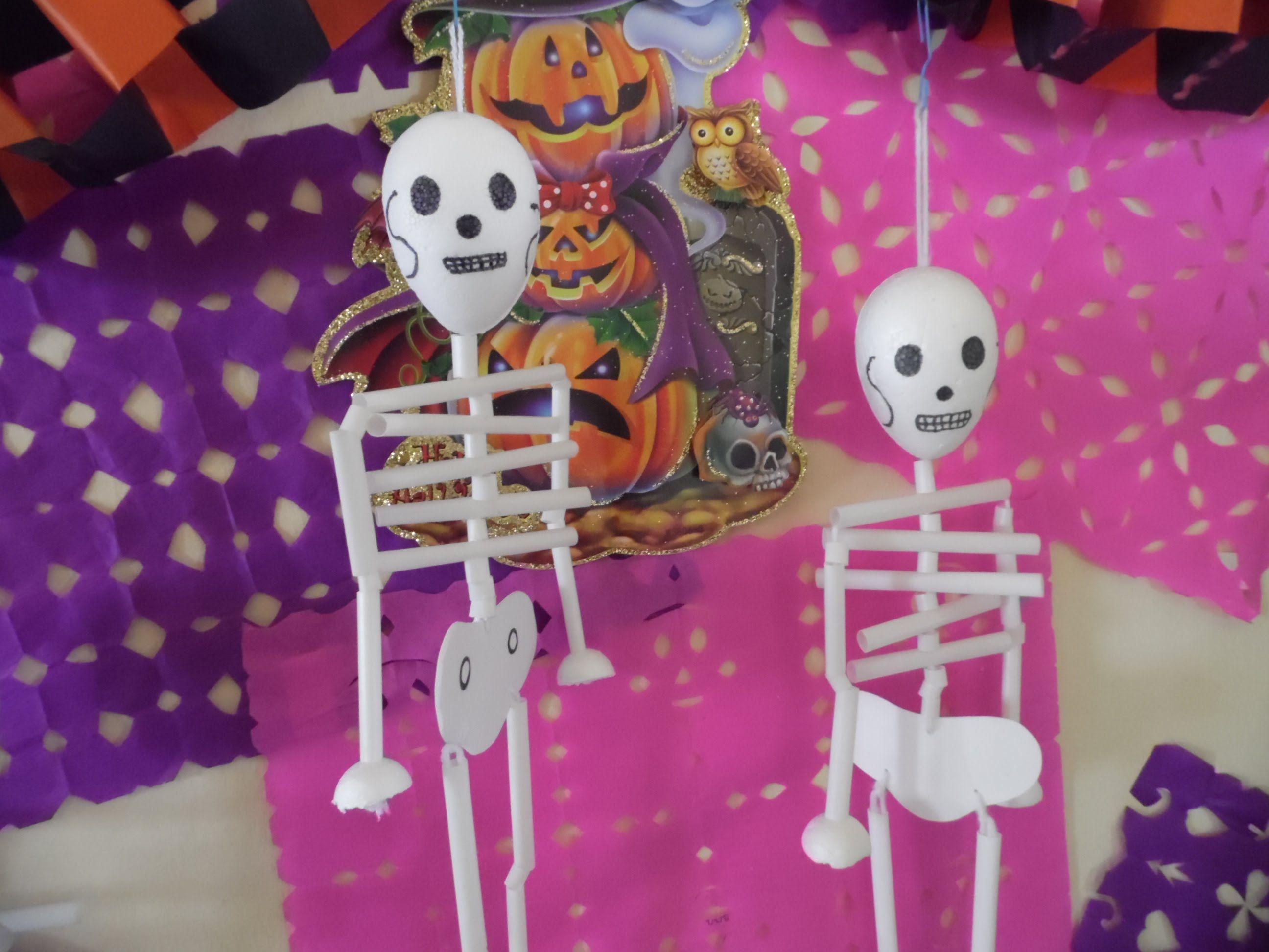 Calacas idea de decoraci n para halloween halloween - Decoracion de halloween ...