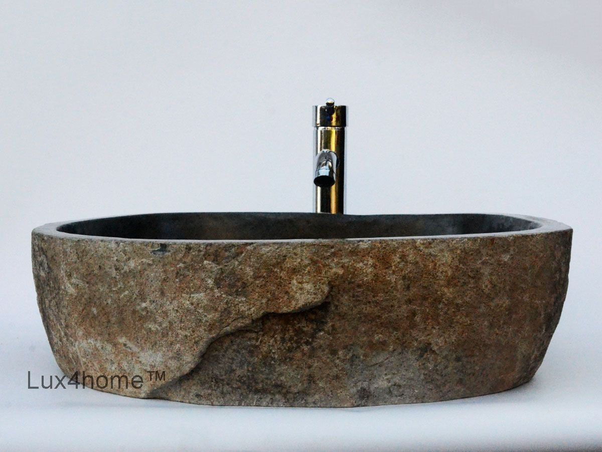 Vessel sink bathroom natural stone sinks in bathroom high quality rock basins made of natural stone manufactured from river stone in indonesia