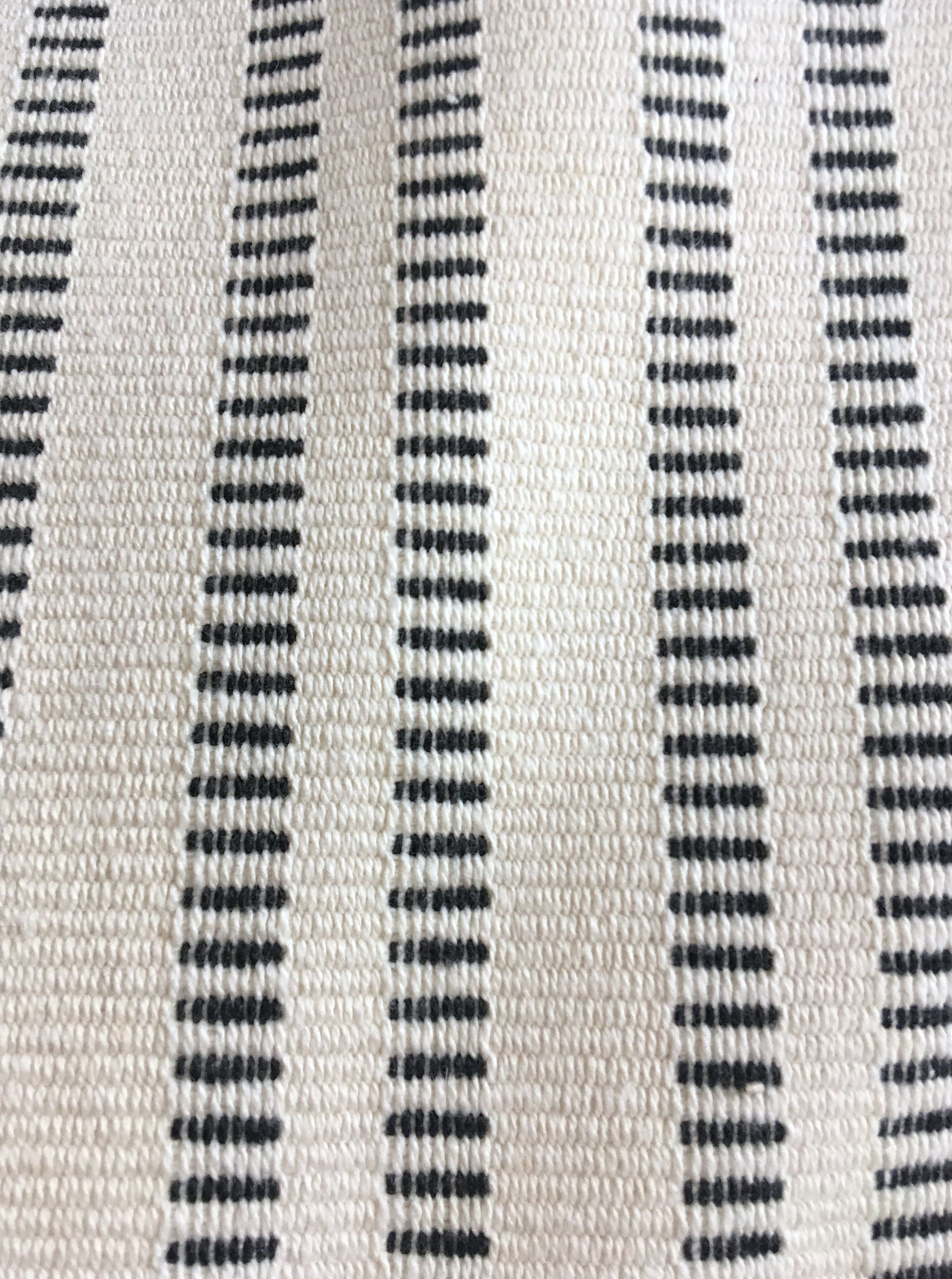 Black Ivory Striped Upholstery Fabric By The Yard Mudcloth Fabric