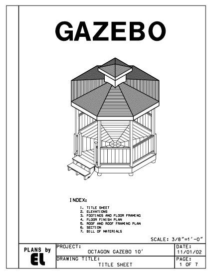 Octagon 8 Sided Gazebo Building Plans Blueprints 10 Do It Yourself Diy Gazebo Blueprints How To Plan Building Plans