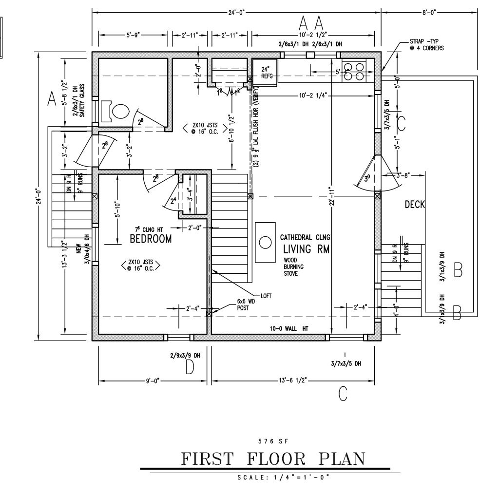 Delightful 24x24 Cabin Plans With Loft #3: 24x24 Cabin Floor Plans With Loft