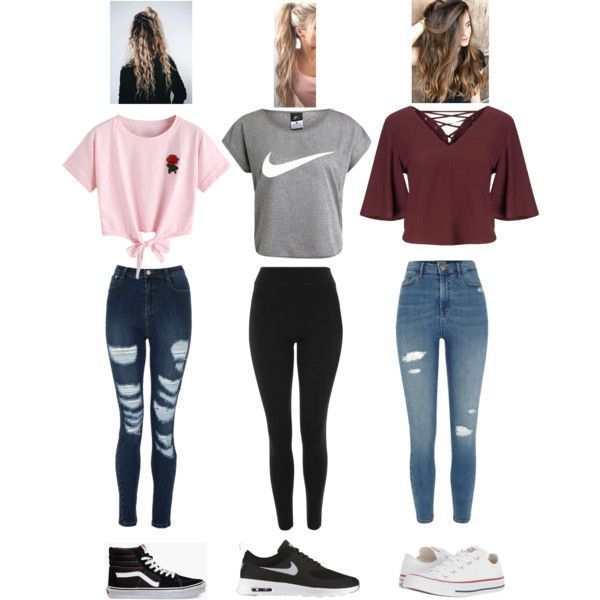 Modischer Look ab Februar 2018 mit T-Shirts von Miss Selfridge, T-Shirt von NIKE ... #teenageclothing